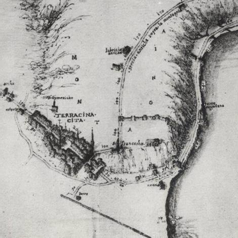 Mappa-di-Terracina-del-XVII-sec.-da-G.-Lugli-Anxur-Tarracina-Forma-Italiae-Roma-1926