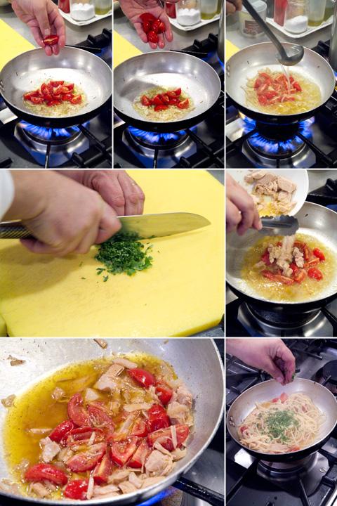natale-romano-spaghetti-tonno-preparazione