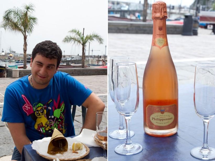 Torrente-junior-a-Cetara-e-lo-champagne-Philipponnat