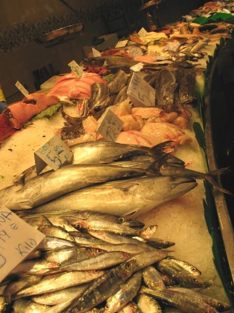 Barcellona guida ai migliori banchi della boqueria - Pesci comuni in tavola ...