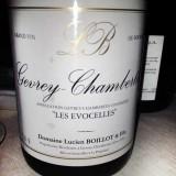 Schede del vino. Gevrey-Chambertin Lucien Boillot Le Evocelles 2008