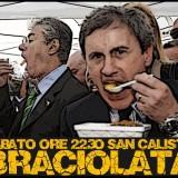 Panino vs Alemanno. Braciolata e BBQ di protesta a San Calisto a Roma