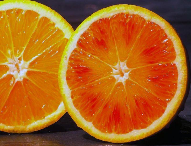 arance e arancione scuro