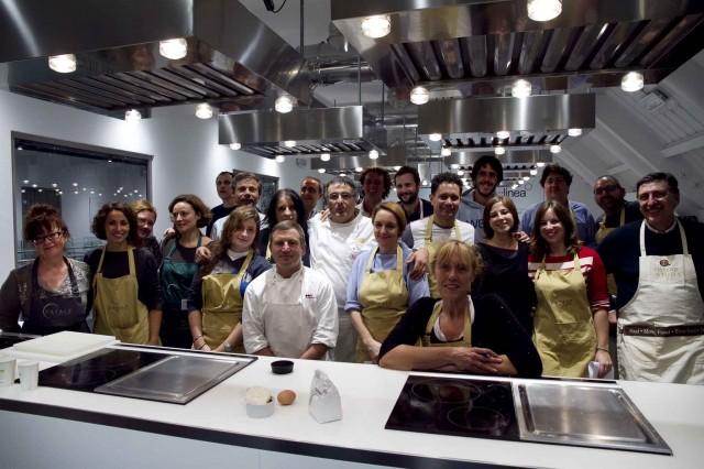 scuola eataly roma. rotolo di coniglio della classe di dino de bellis - Corso Cucina Eataly