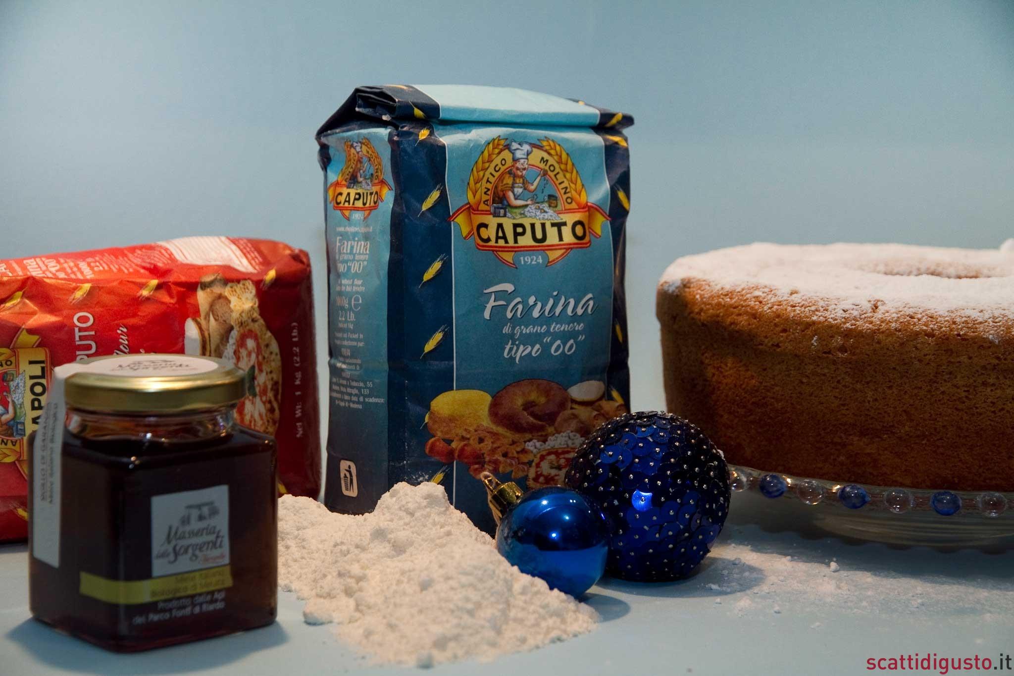 farine-Caputo-miele-Ferrarelle-ciambellone
