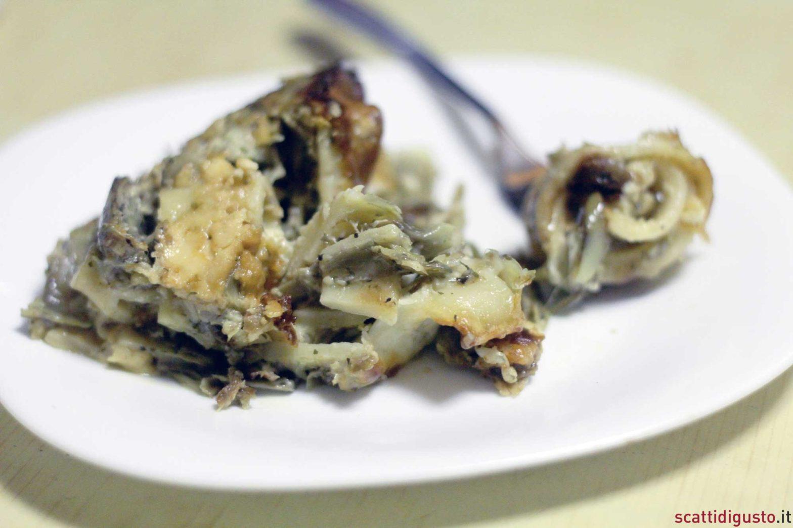 la ricetta della pasta al forno con i carciofi