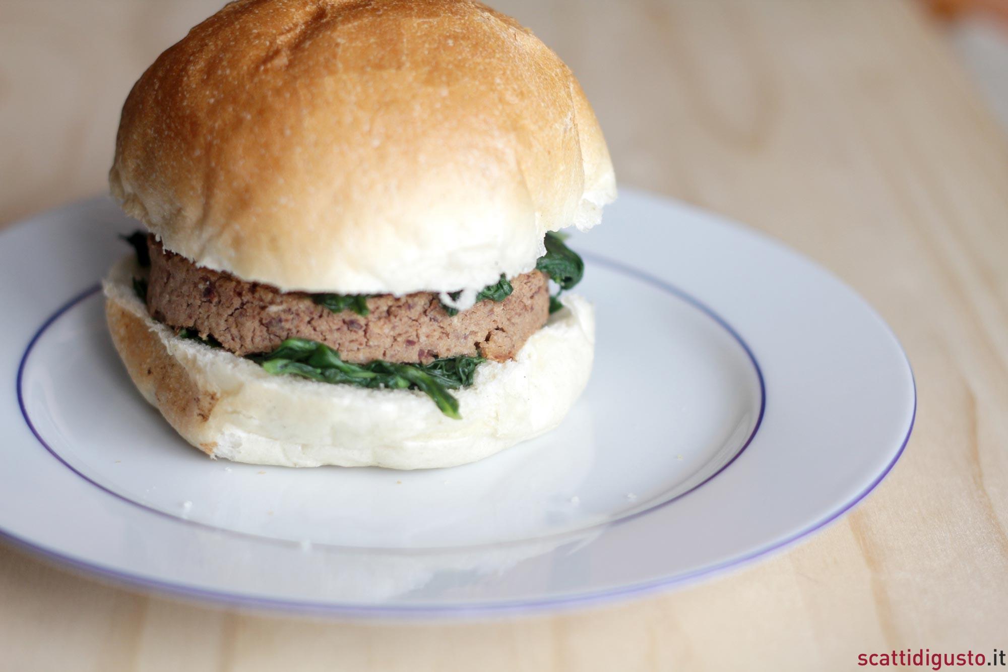 hamburger vegetariano la ricetta