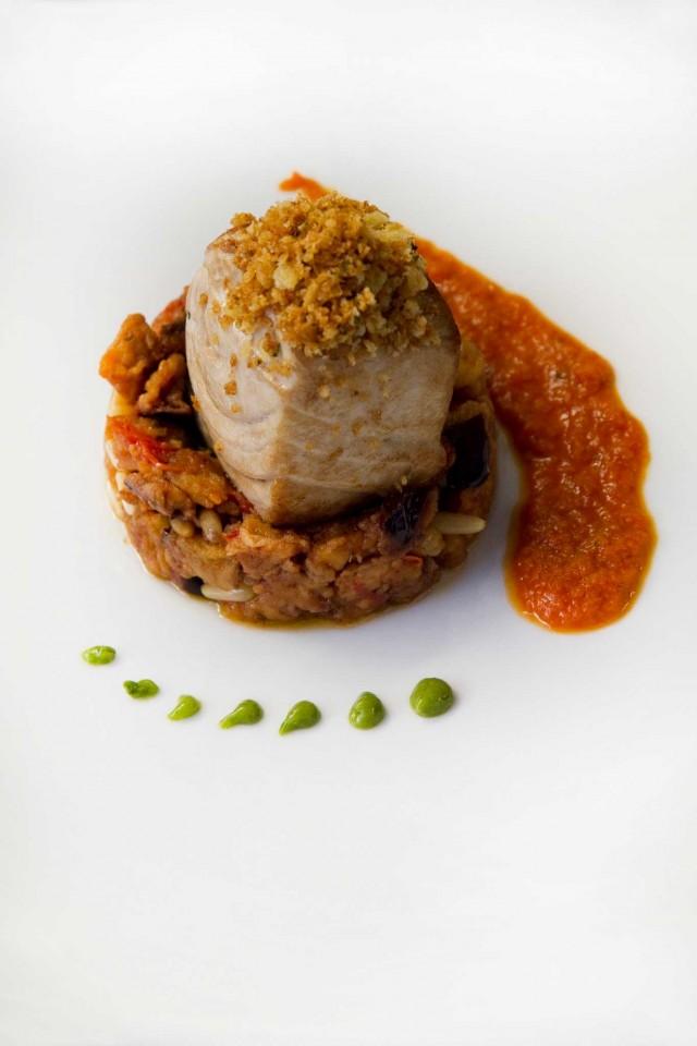 ricciola-con-caponata-verdura-mollica