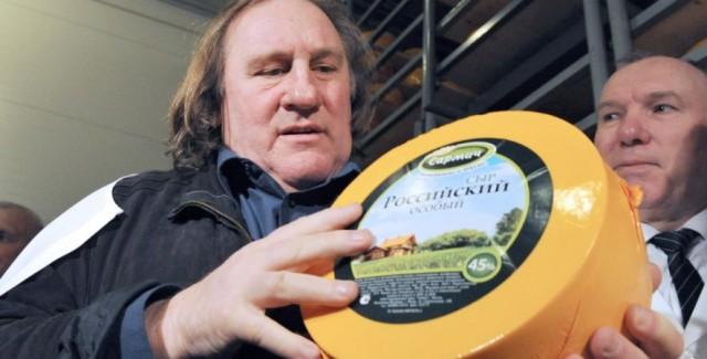 Depardieu e il formaggio russo