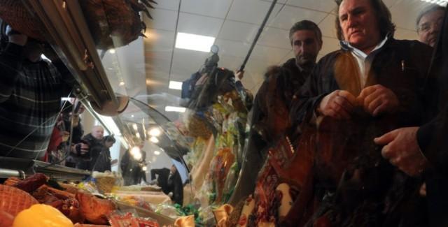 Depardieu visita macelleria