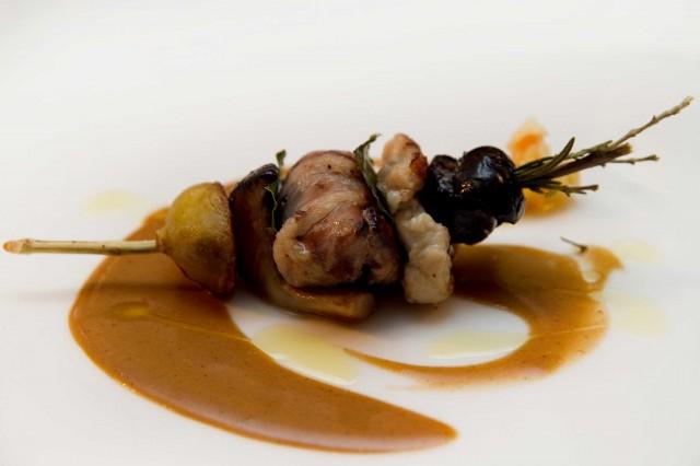 spiedino beccaccia palombo ristorante Acquolina Roma