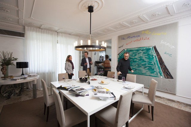 sala pranzo casa Massimo Bottura