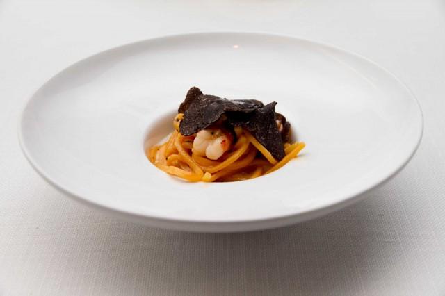 tagliolini tartufo gambero All'Oro nuovo Roma