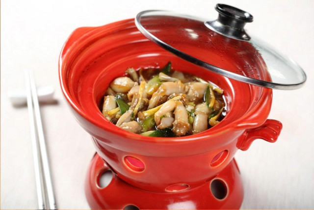fonduta di rane con verdure Bon Wei Milano