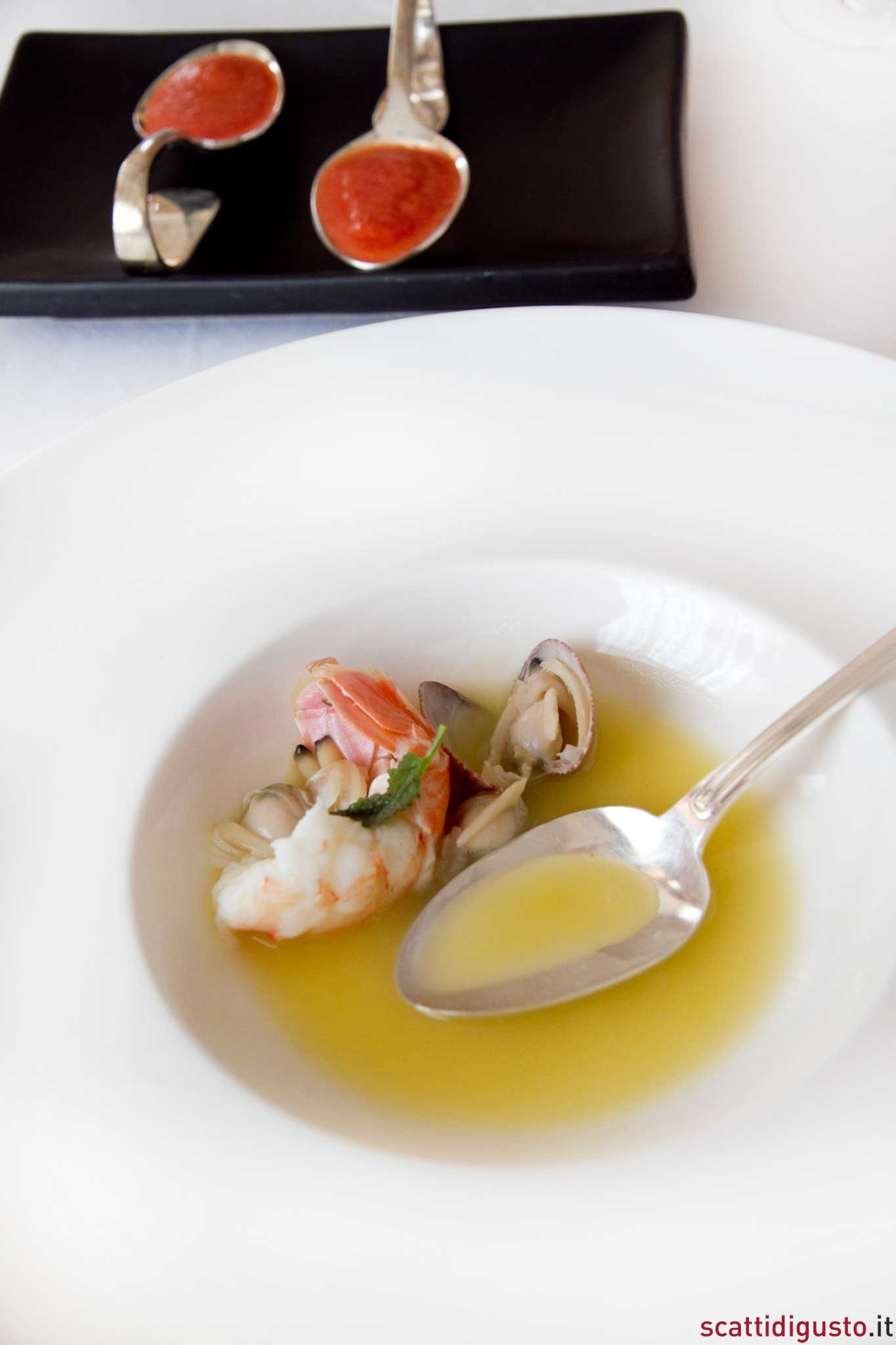 zuppa olio pomodoro frutti mare Salvatore Tassa 2