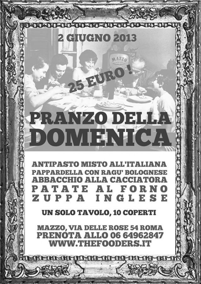 Mazzo Roma pranzo della domenica