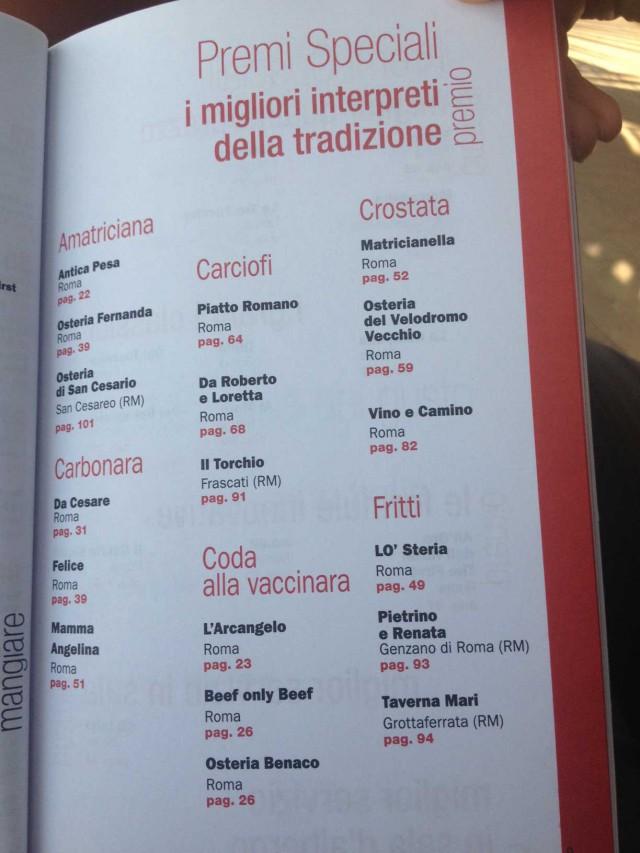 piatti-tradizione-Guida-Gambero-Rosso-Roma-2014