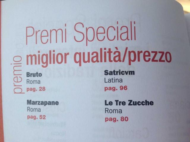 premi-qualità-prezzo-Gambero-Rosso-Roma-2014