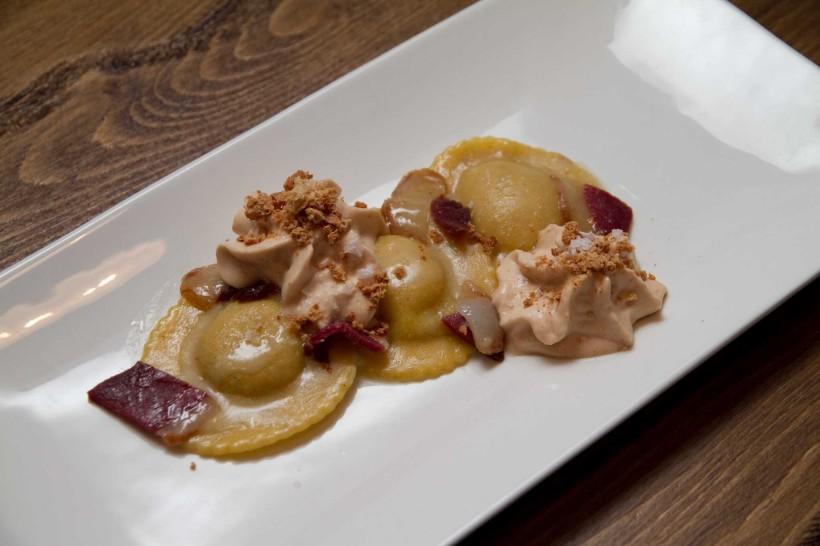 raviolo foie gras Marzapane Roma