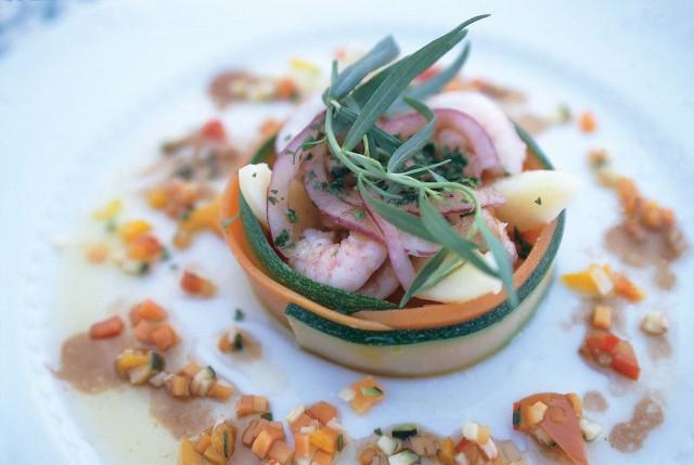 pesce e verdure il Melograno