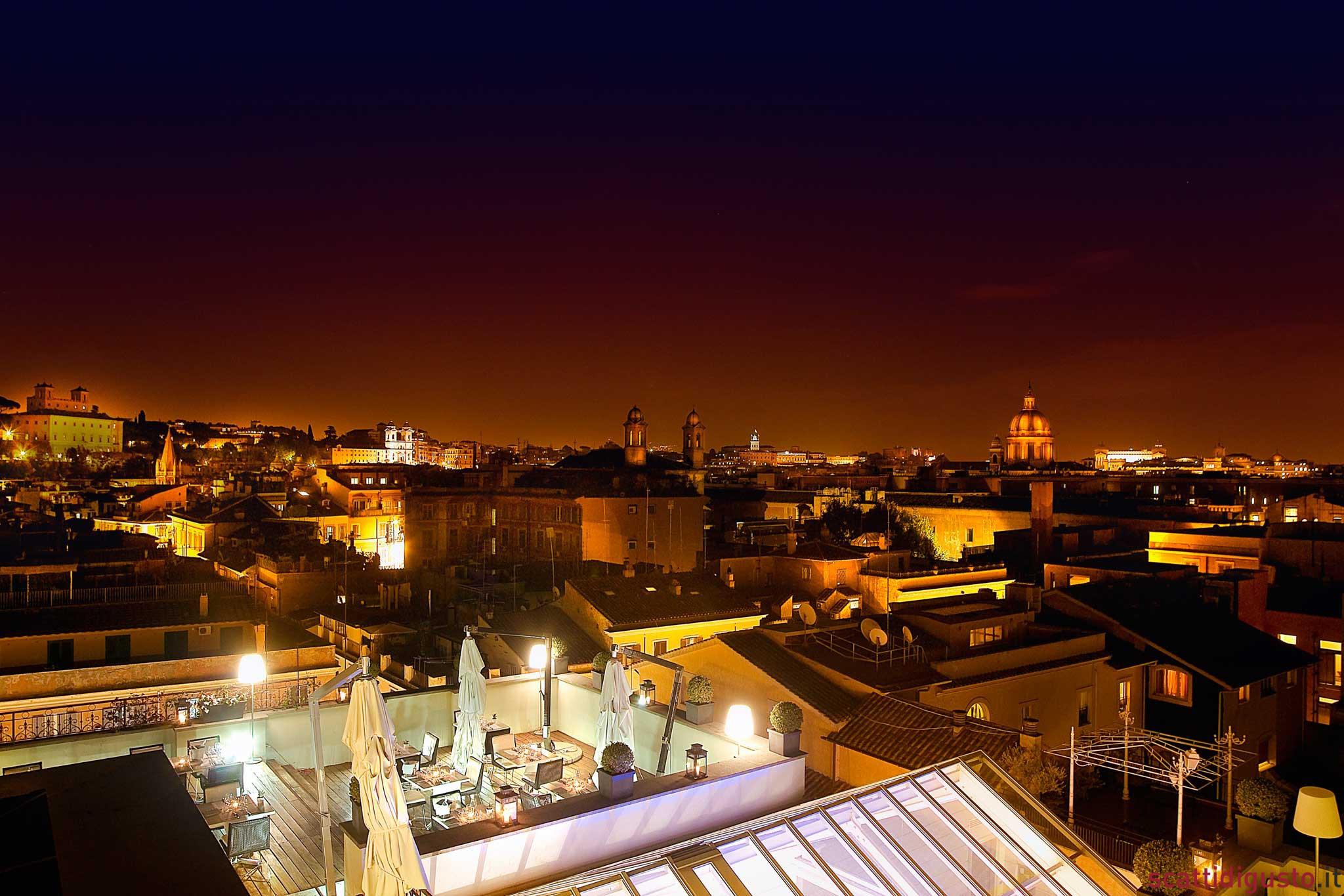 Guardare stelle cadenti dal roof garden del ristorante stella Michelin