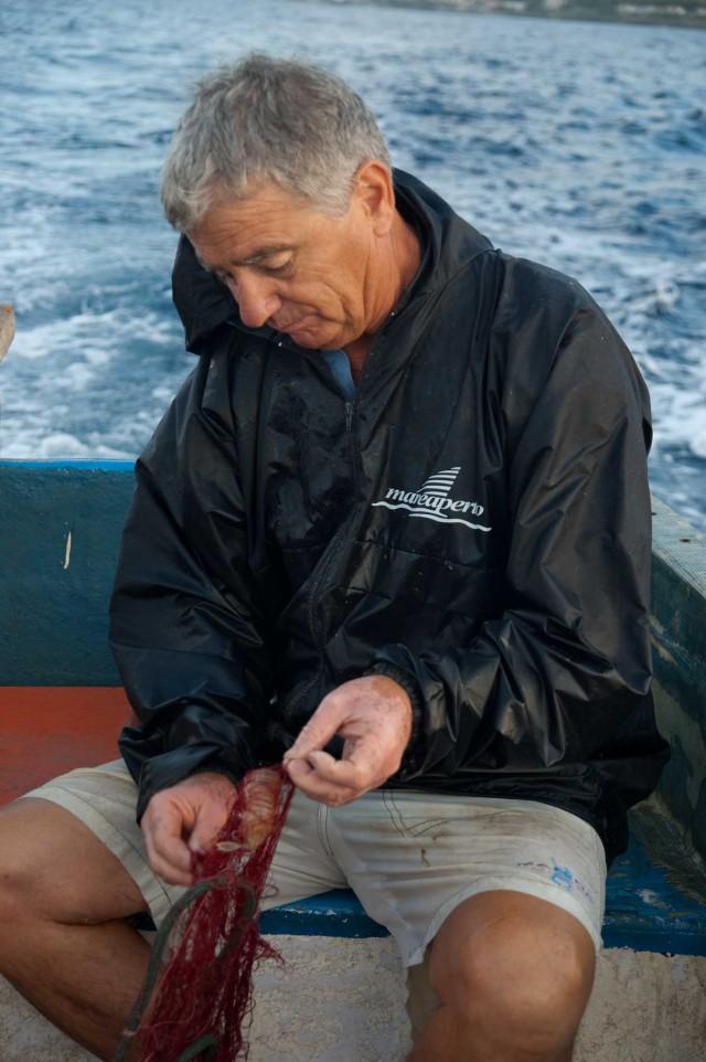 a pesca con Angelo Vassallo
