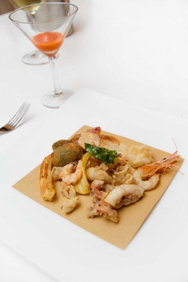 gran fritto ristorante Acquolina Roma