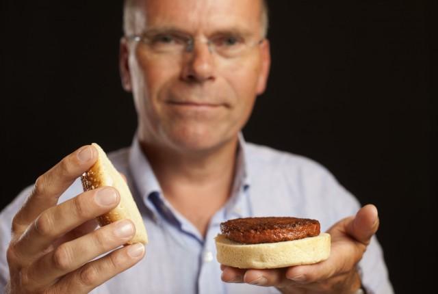 hamburger di carne artificiale Mark Post