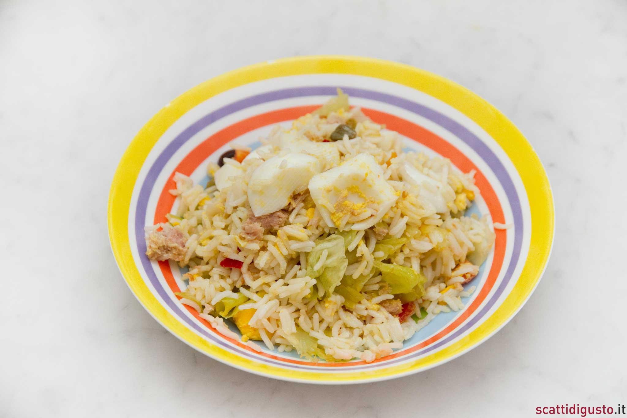 imenu di ferragosto in spiaggia: insalata di riso