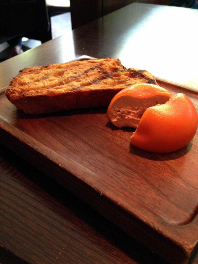 meat fruit foie Dinner Londra 3