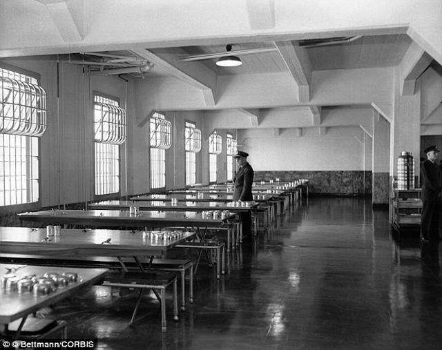 sala da pranzo alcatraz