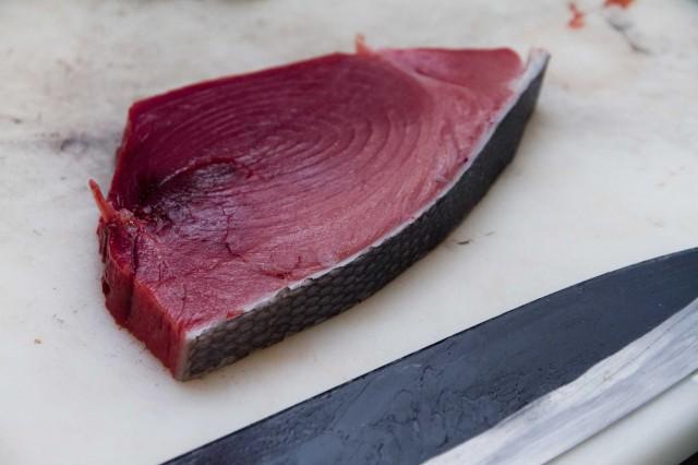 fetta di tonno rosso