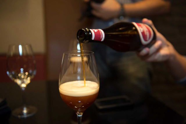 Birra in bicchiere
