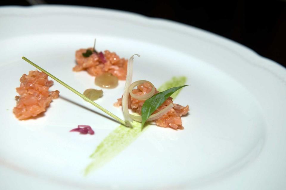 finta tartare di salmone affumicata