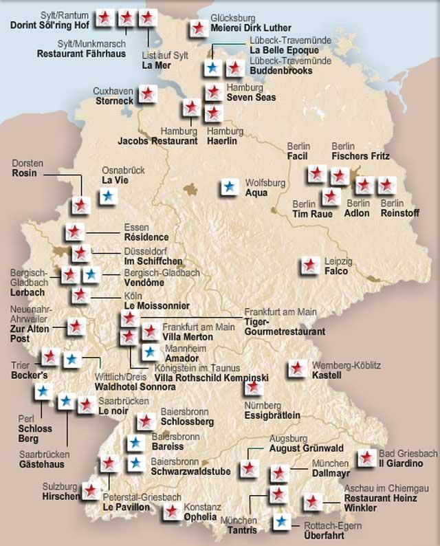 2 e 3 stelle Michelin Germania-2014