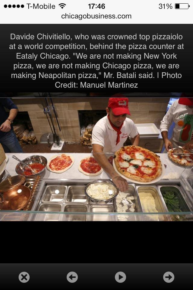 Davide Civitiello pizza a Chicago