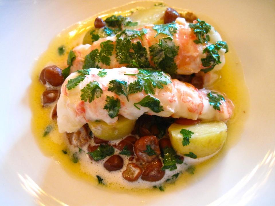 Le Meurice - Langoustines vivantes cuites ˆ la minute au court b