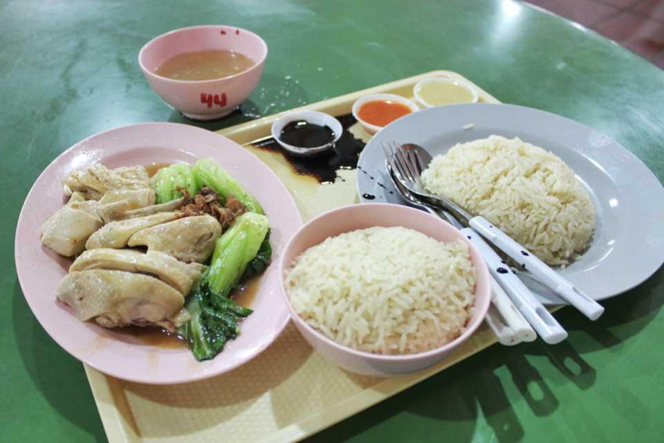 pollo alla Hainan, Maxwell Food Centre Singapore