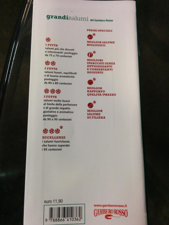 criteri tre fette Gambero Rosso
