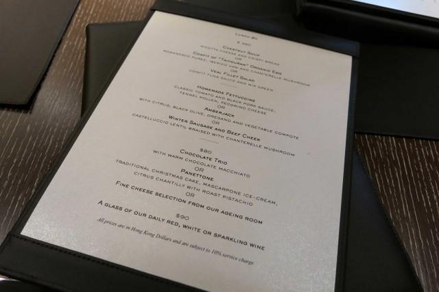 menu Bombana