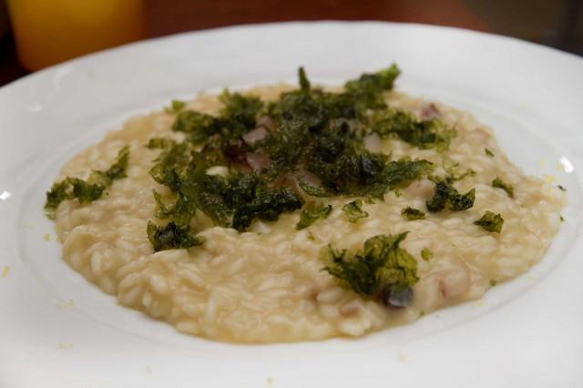 risotto con cipolla ramata Torre del Saracino