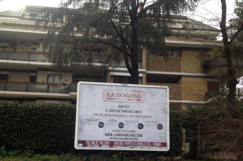 La Dogana Roma pubblicità