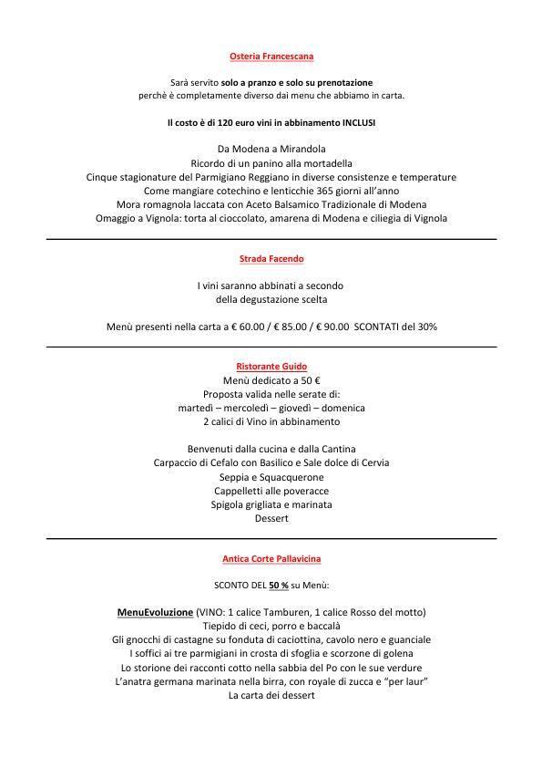 Settimane del Gusto Emilia Romagna