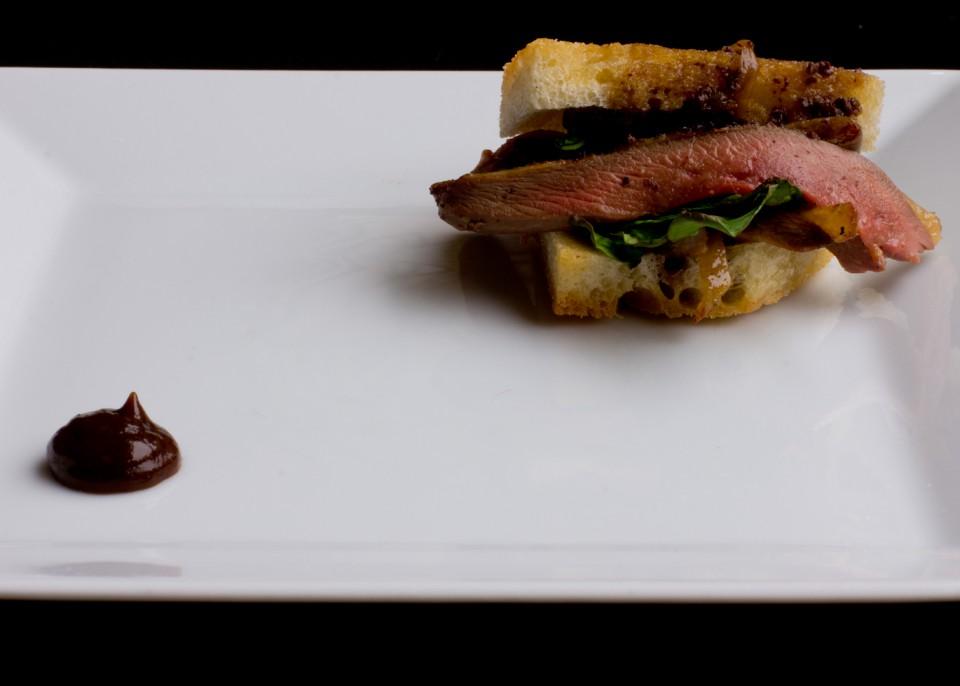 panino, piccione, sandwich