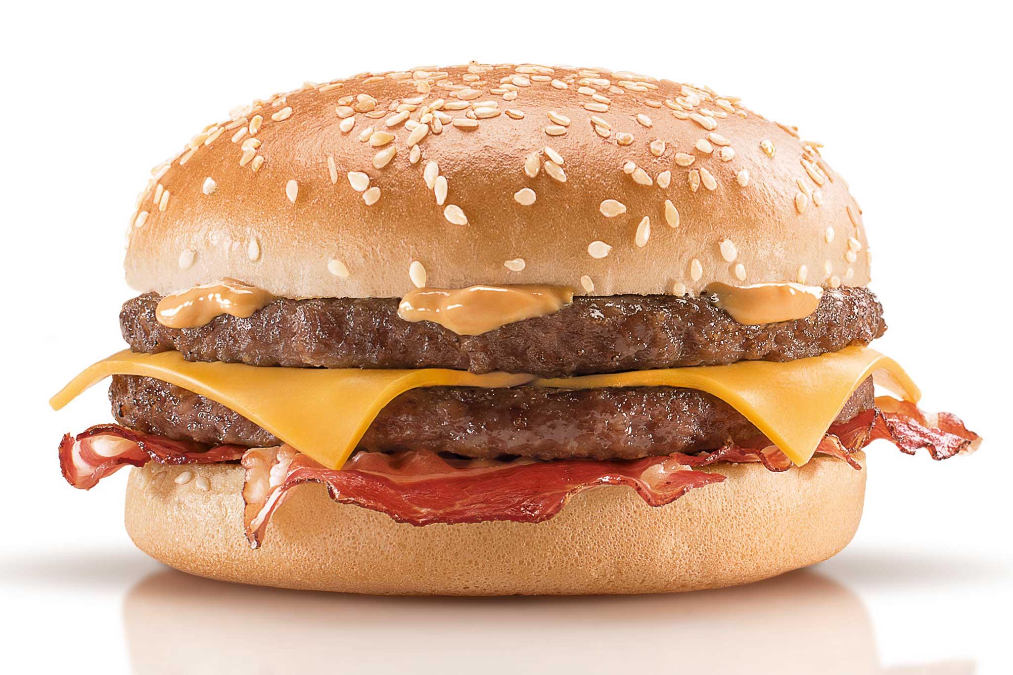 Hamburger crispy mcbacon con salsa