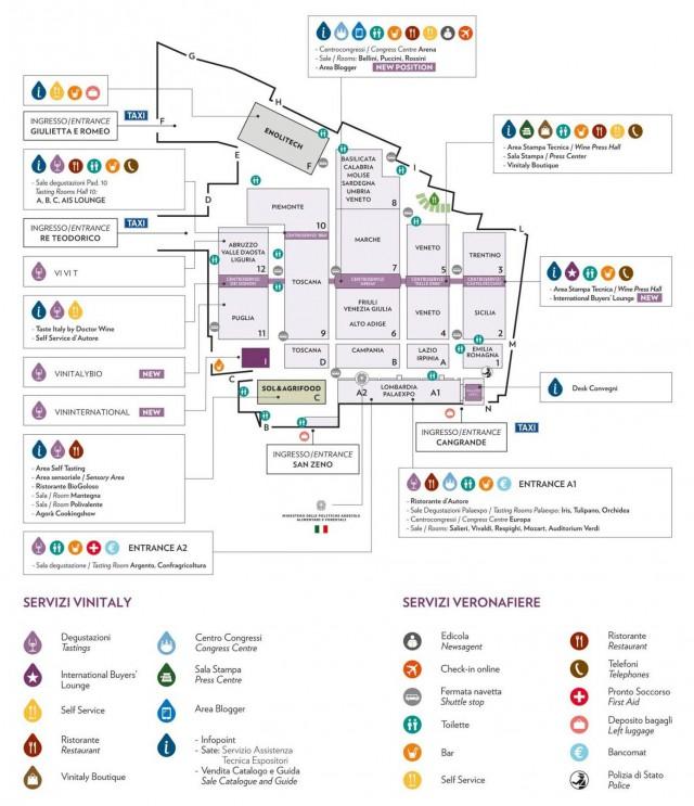 Mappa Vinitaly 2014