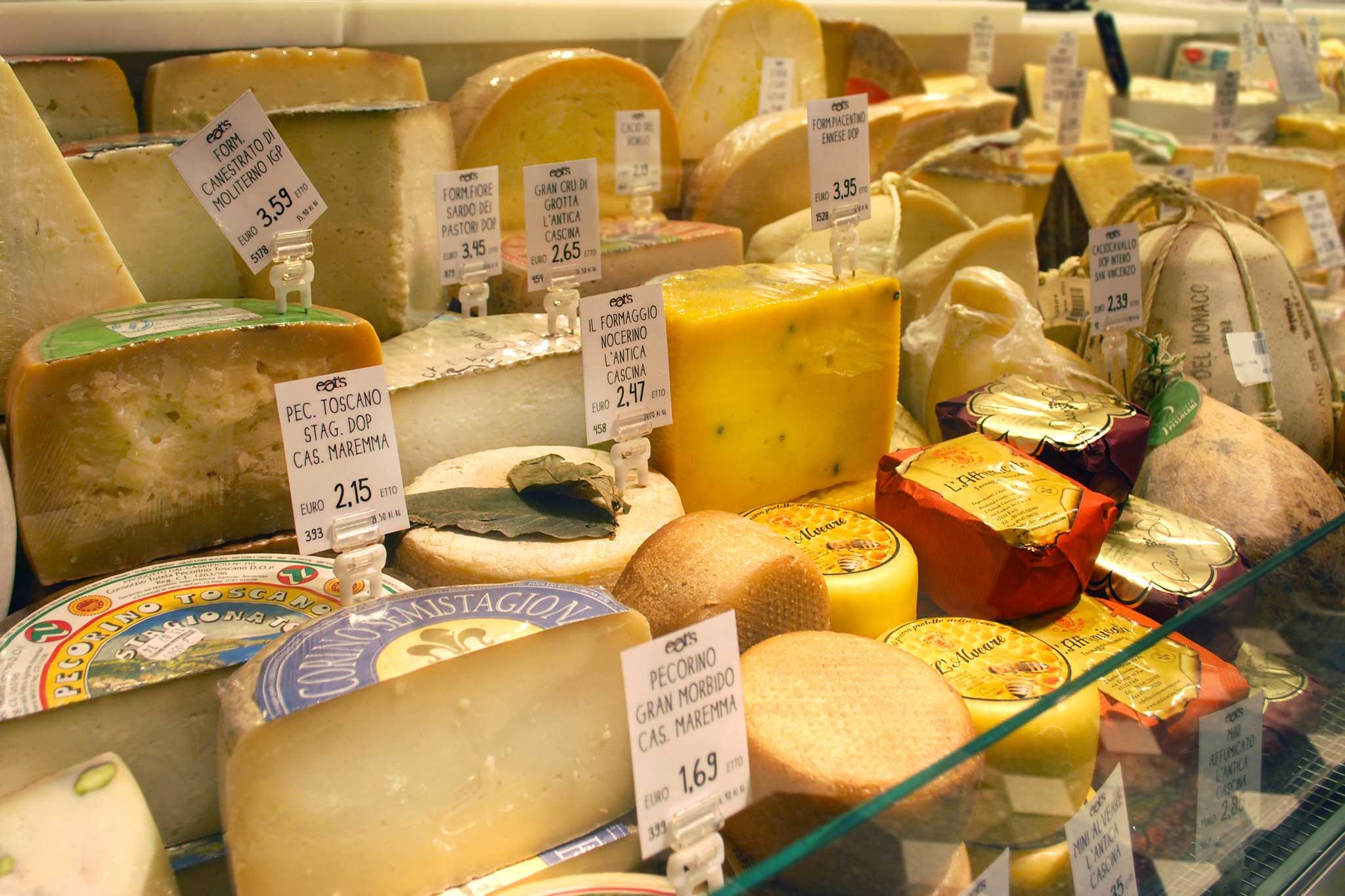 formaggi prezzi