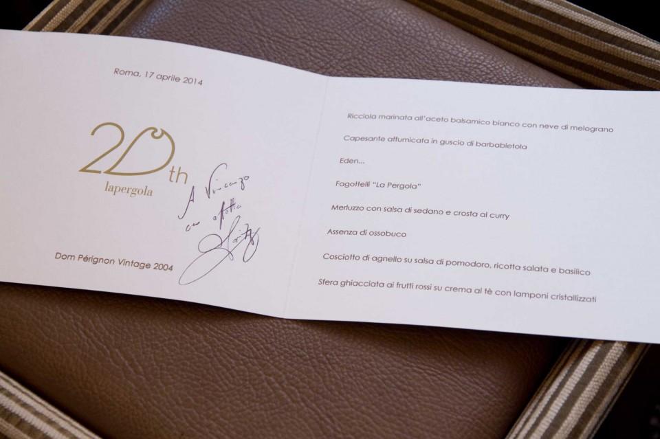 menu Heinz Beck edizione limitata