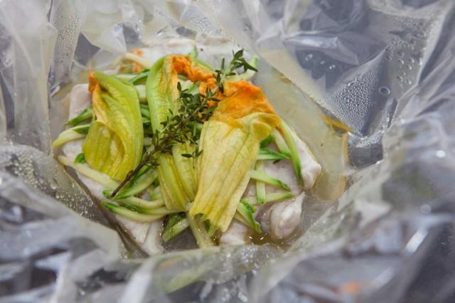 pesce zucchine e timo