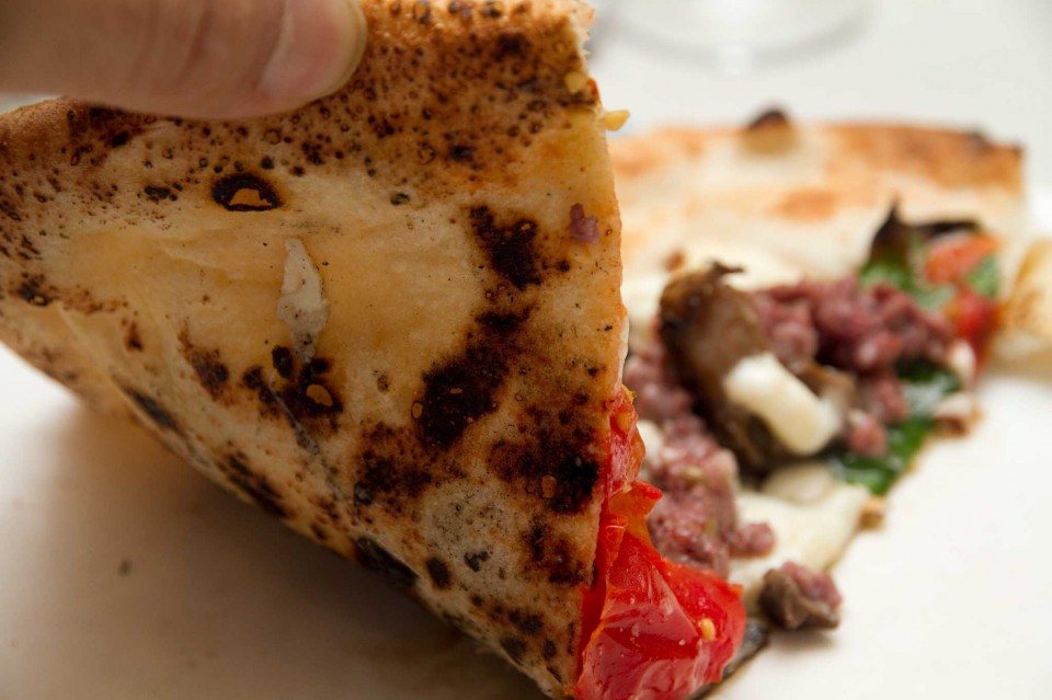 cottura pizza contadina